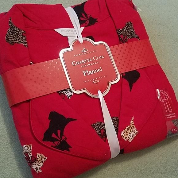 Charter Club Other - Animal Print Scottie Dog Flannel Pajama Set XXL